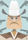 Cartoon: Larry Hagman RIP (small) by spot_on_george tagged larry,hagman,caricature
