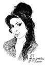 Cartoon: amy (small) by chrisse kunst tagged amy whinehouse death pop soul club of 27