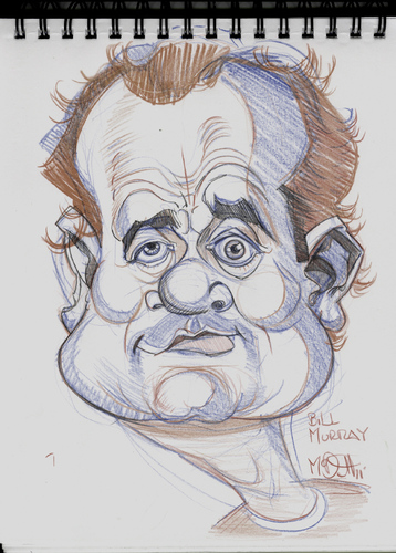 Cartoon: Caricature of Bill Murry (medium) by McDermott tagged actor,famous,cartoon,caricature,mcdermott,caddyshack,murry