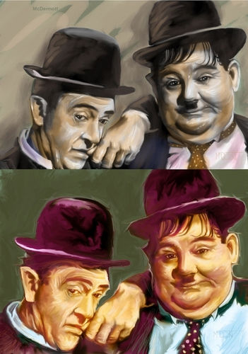 Cartoon: Laurel and Hardy Famous Comedian (medium) by McDermott tagged laurelandhardyfamouscomedian