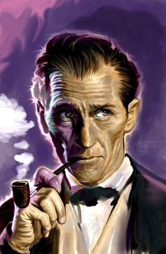 Cartoon: Peter Cushing (medium) by McDermott tagged petercushing,monsters,movies,hammerfilms,hammerstudios,mcdermott,horror,scary