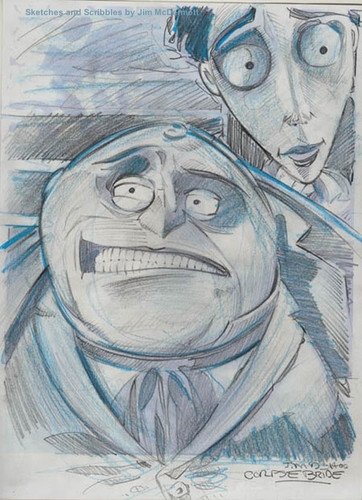 Cartoon: Sketch from Corpse Bride (medium) by McDermott tagged corpsebride,movies,stopmotion,animation,timburton,fantasy