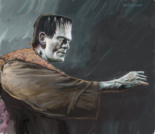 Son of Frankenstein By McDermott | Famous People Cartoon ...
