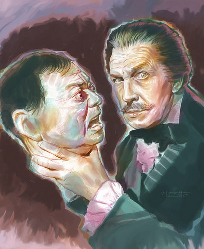 Cartoon: Vincent Price (medium) by McDermott tagged vincertprice,horror,movies