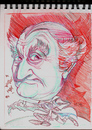Cartoon: Al Lewis born Albert Meister pla (small) by McDermott tagged allewis,munsters,tv,tvland,60s,vaudeville,actor,drawing,sketchbook,mcdermott,new