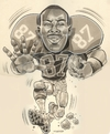 Cartoon: Caricature of Ben Coates (small) by McDermott tagged caricature,bencoates,football,patriots,newengland