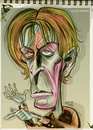 Cartoon: Caricature of David Bowie (small) by McDermott tagged bowie,music,davidbowie,mcdermott