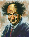 Cartoon: Caricature of larry Fine (small) by McDermott tagged larryfine,moehoward,curly,3stooges,mcdermott,comedy,tvland