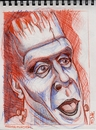 Cartoon: Fred Gwynne as Herman Munster (small) by McDermott tagged caricature,sketch,hermanmunster,actor,tvland,pencil,drawing