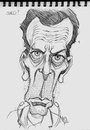Cartoon: Hugh Laurie from House (small) by McDermott tagged hughlaurie,house,pencil,drawing,caricature,tv,comedy