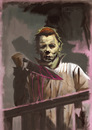 Cartoon: Illustration of Micheal Myers (small) by McDermott tagged micheal,myers,halloween,movies,horror,mcdermott,robzombie,johncarpenter