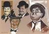 Cartoon: Laurel and Hardy Famous Comedian (small) by McDermott tagged laurelandhardy,famous,comedian,tv,comedy,mcdermott