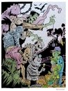 Cartoon: Monsters and Kids (small) by McDermott tagged monsters,kids,horror,frankenstein,mummy,hunchback