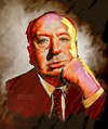 Cartoon: Portrait of Alfred Hitchcock (small) by McDermott tagged alfredhitchcock movies horror suspence tv mcdermott