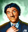 Cartoon: Shemp Howard Caricature (small) by McDermott tagged 3stooges,comedy,shemp,moe,curly,babe