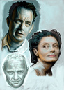 Cartoon: Tom Hanks - Hopkins - Sarandon (small) by McDermott tagged tomhanks hopkins sarandon actors movies mcdermott