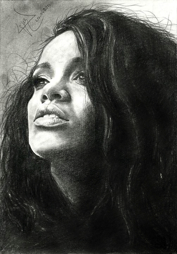 Cartoon: rihanna (medium) by ressamgitarist tagged drawing