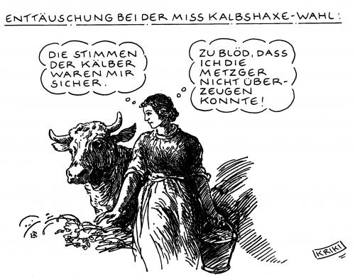 Cartoon: Misswahl (medium) by Kriki tagged misswahl,contest,fleisch,fleischer,