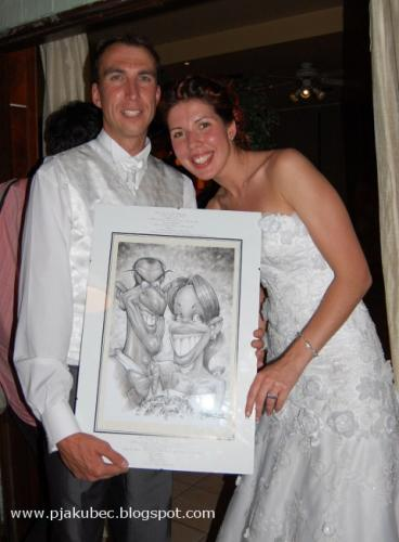 Cartoon: WEDDING caricature for gift (medium) by toon tagged drawing