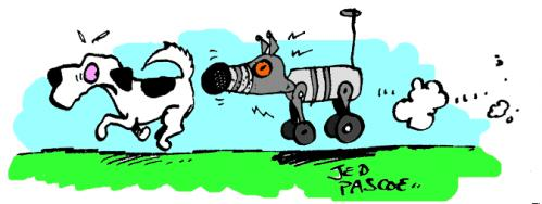 Cartoon: Robodog (medium) by Jedpas tagged dog,electronics,robot,cartoon,funny