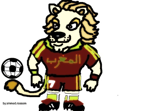 Cartoon: morocain foot ball (medium) by ahmed_rassam tagged for,the,game