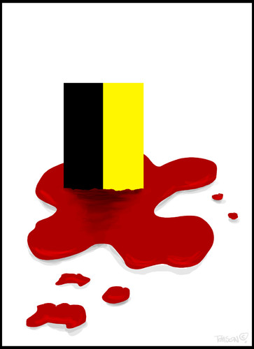 Cartoon: Brussels blasts (medium) by to1mson tagged brussel,blast,terror,bruksela,zamachy