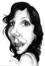 Cartoon: Claudia Kfouri (small) by manohead tagged manohead,caricatura