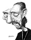 Cartoon: Danny Trejo (small) by manohead tagged caricatura,manohead,caricature