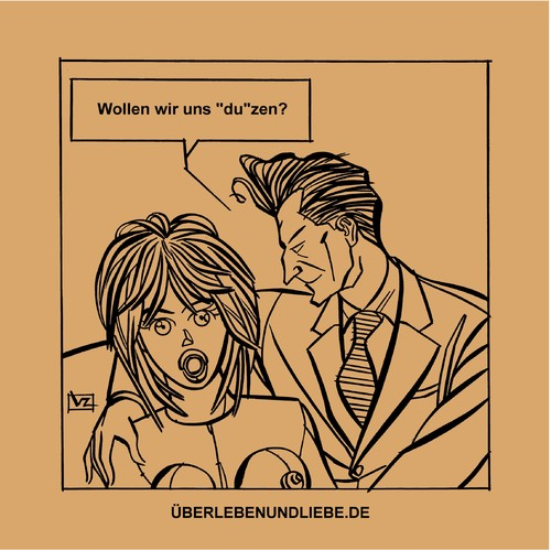 Cartoon: 004_ulul Wollen wir uns duzen? (medium) by Age Morris tagged agemorris,victorzilverberg,atomstyle,cartoons,überlebenundliebe,plasticfantastic,liebespuppe,duzen,wollenwirunsduzen,sollenwirunsduzen,sexdoll,liebespaar,liebe