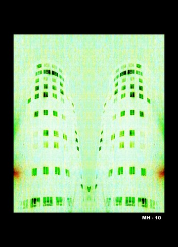 Cartoon: MH - Two Towers (medium) by MoArt Rotterdam tagged twotowers