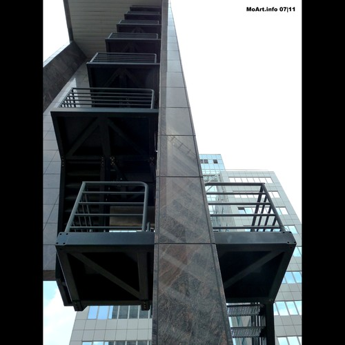 Cartoon: MoArt - The Staircase (medium) by MoArt Rotterdam tagged rotterdam,moart,moartcards,straircase,trappenhuis,stairs,trappen,architecture,gebouw,building,high,hoog