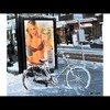 Cartoon: MH - Fancy a Ride!?! (small) by MoArt Rotterdam tagged rotterdam,snow,sneeuw,ride,ritje,sexy,lingerie,hotbabe,billboard,fiets,bike