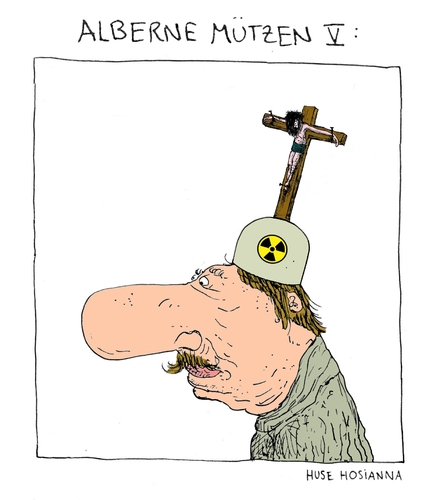 Cartoon: Alberne Mützen V (medium) by Huse Fack tagged hut,mütze,hat