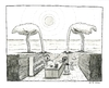 Cartoon: Desert Inn (small) by Huse Fack tagged vogel,strauss,wüste,desert,kneipe,bar,pub