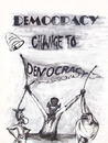 Cartoon: A Comedy of Democracy In 2011 (small) by RahimAdward tagged prince of qatar leader de ocracy
