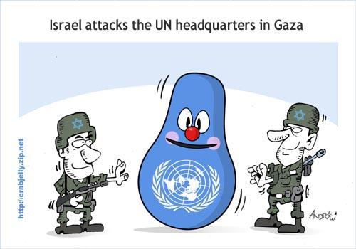 Cartoon: Gaza (medium) by andre tagged israel,bombing,gaza,united,nations