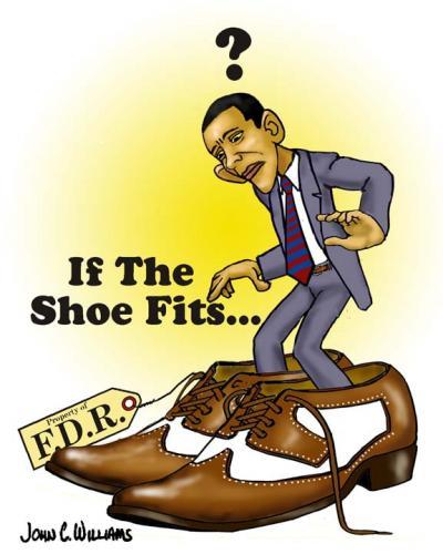 Cartoon: If the shoe fits... (medium) by saltpppr tagged barak,obama