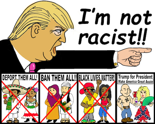 Image result for trump racist cartoon