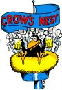 Cartoon: Crows Nest (small) by saltpppr tagged beer fun alcohol bar tavern pub crow nest