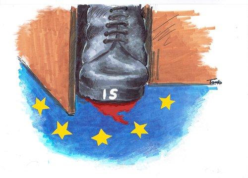 Image result for islam teror eu cartoon