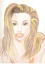 Cartoon: angelina jolie (small) by paintcolor tagged angelina,jolie,actres,beauty,hollywood