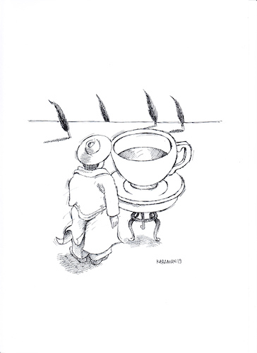 Cartoon: Kaffee 13 (medium) by Mehmet Karaman tagged kaffee,landschaft