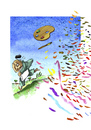 Cartoon: Der Landschaftsmaler2 (small) by Mehmet Karaman tagged farbe,landschaft,kunstmaler