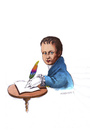 Cartoon: Heinrich von Kleist (small) by Mehmet Karaman tagged literatur