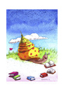 Cartoon: Schnecke (small) by Mehmet Karaman tagged lesen,bücher,literatur,schnecke