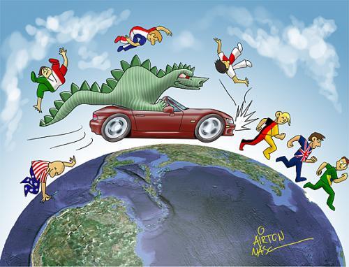 World Crisis By Airton Nascimento Politics Cartoon
