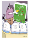 Cartoon: fussball (small) by hicabi tagged hicabi