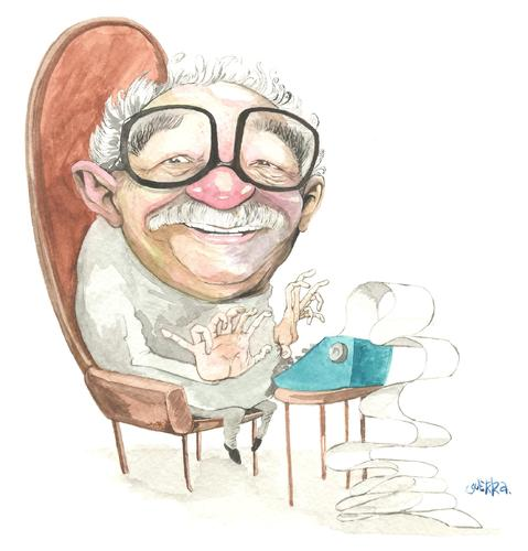 Cartoon: Gabriel Garcia Marquez (medium) by Mau tagged colombia,gabo,literatura,latinoamericana,cien,anios,de,soledad