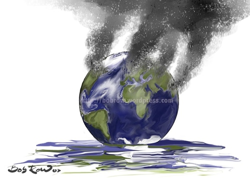 Melting Earth Cartoon Pictures