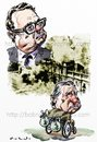 Cartoon: Allende and Pinochet (small) by Bob Row tagged allende pinochet chile imperialism cia kissinger neoliberalism